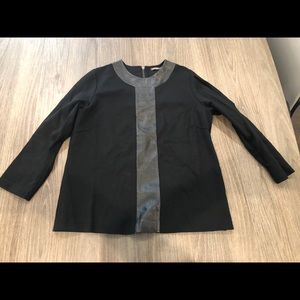 J. McLaughlin faux leather top